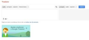 google tradutor ajuda