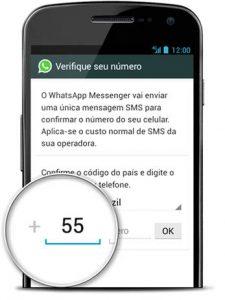código de confirmação do whatsapp