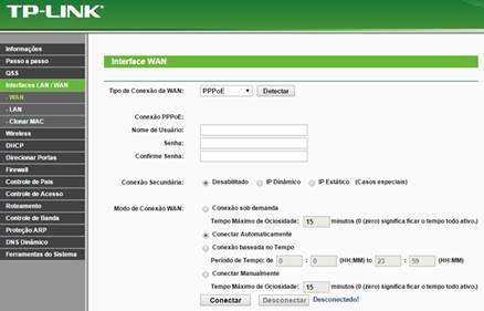 Configurar roteador TP-LINK TL-WR741ND no modo PPPoE + WiFi