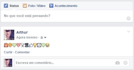 emoticons facebook teste