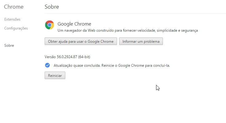 Resolvido o erro 0x80070005 ao atualizar o navegador Google Chrome