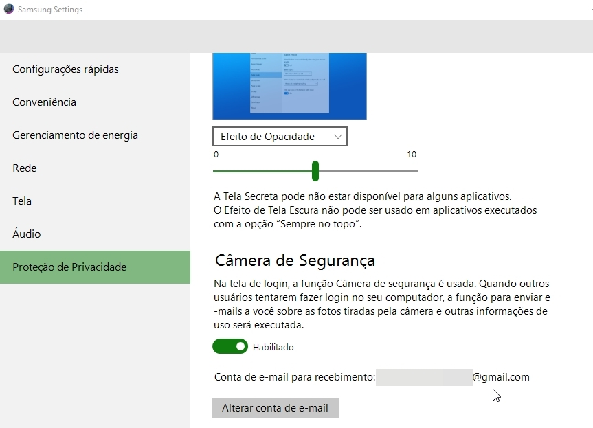 Protegendo o Notebook da Samsung com a Webcam
