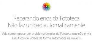Fototeca no iPhone não faz upload de fotos automaticamente