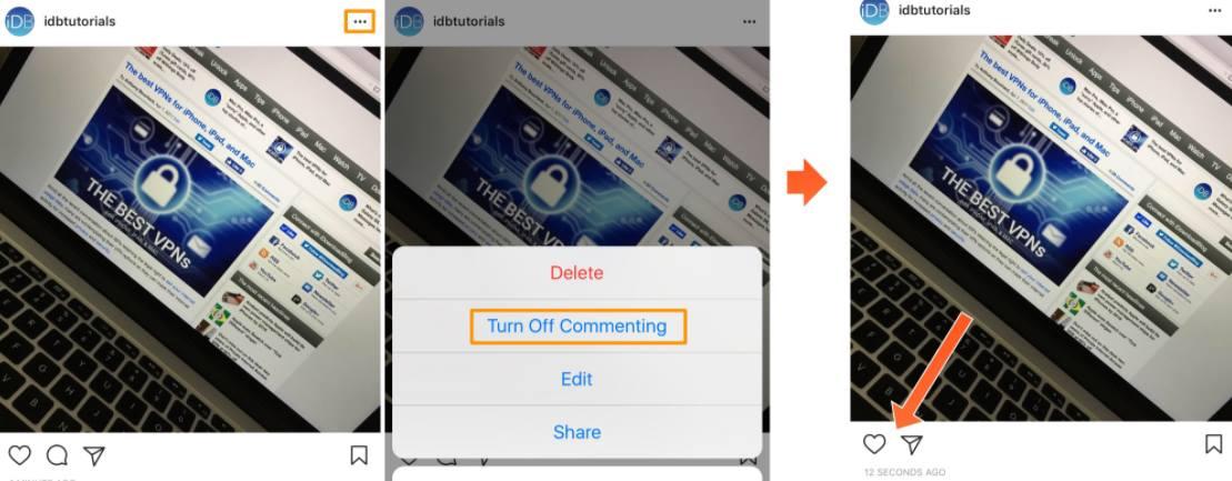 Como desativar comentários no Instagram