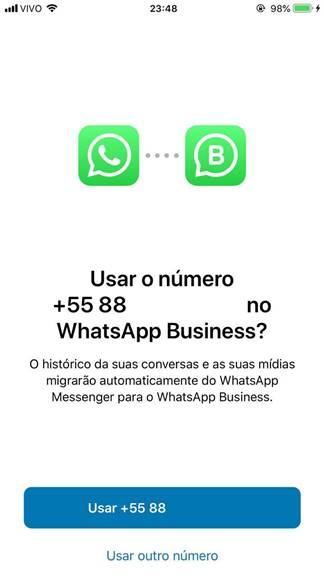 Migrar as conversas do Whatsapp para o Whatsapp Business no iOS