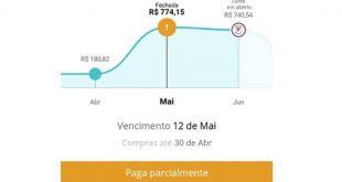 Paga parcialmente: Problema com a fatura do cartão Santander!