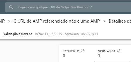 AMP: O URL de AMP referenciado não é uma AMP