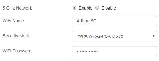 configurar o WiFi em 5G