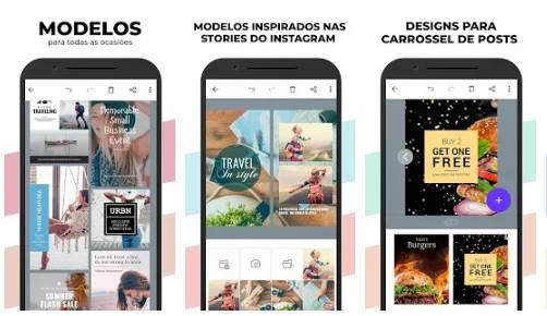 Baixar templates pra Instagram Stories de graça