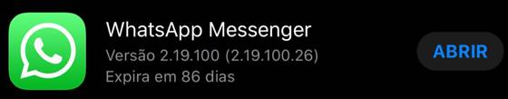Problema no iPhone: WhatsApp Messenger falhou