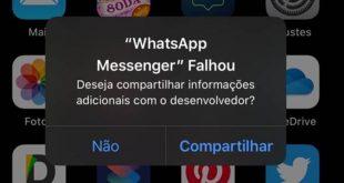 Problema no iPhone: WhatsApp Messenger falhou