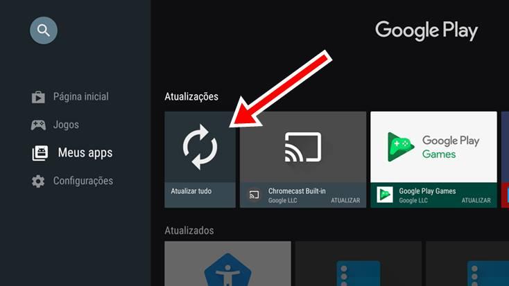 Como atualizar aplicativos no Xiaomi Mi Box S