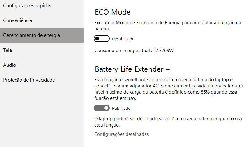 bateria só carrega até 85%