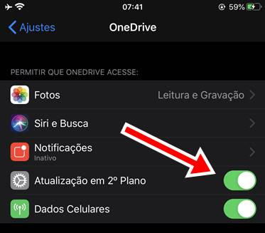 resolvido onedrive lento no iphone