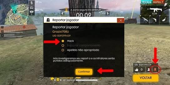 Hack para Free Fire: os perigos de usar.