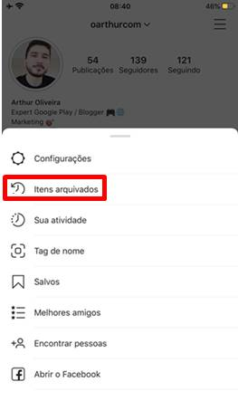 Como desarquivar foto do Instagram ?