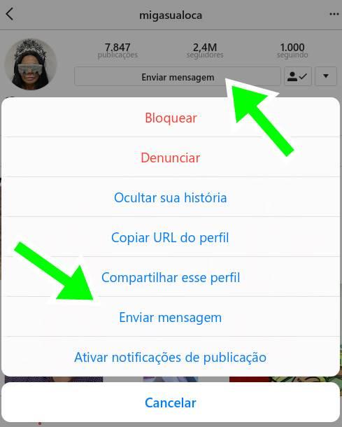 Saiba como mandar mensagem privada no Instagram