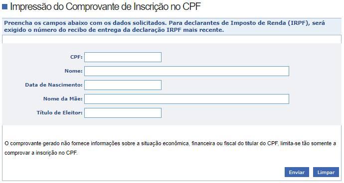 tirar a segunda via do CPF