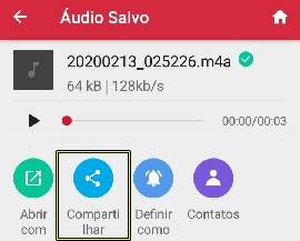 baixar audio do direct instagram