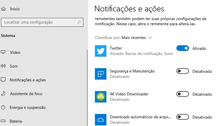 Notificações no Windows 10 não aparecem [Resolvido]