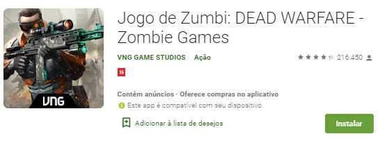 10 melhores jogos de Zumbi para Android