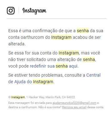Como saber quem mudou minha senha do Instagram
