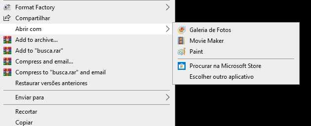 Abrir com no Windows 10 sumiu