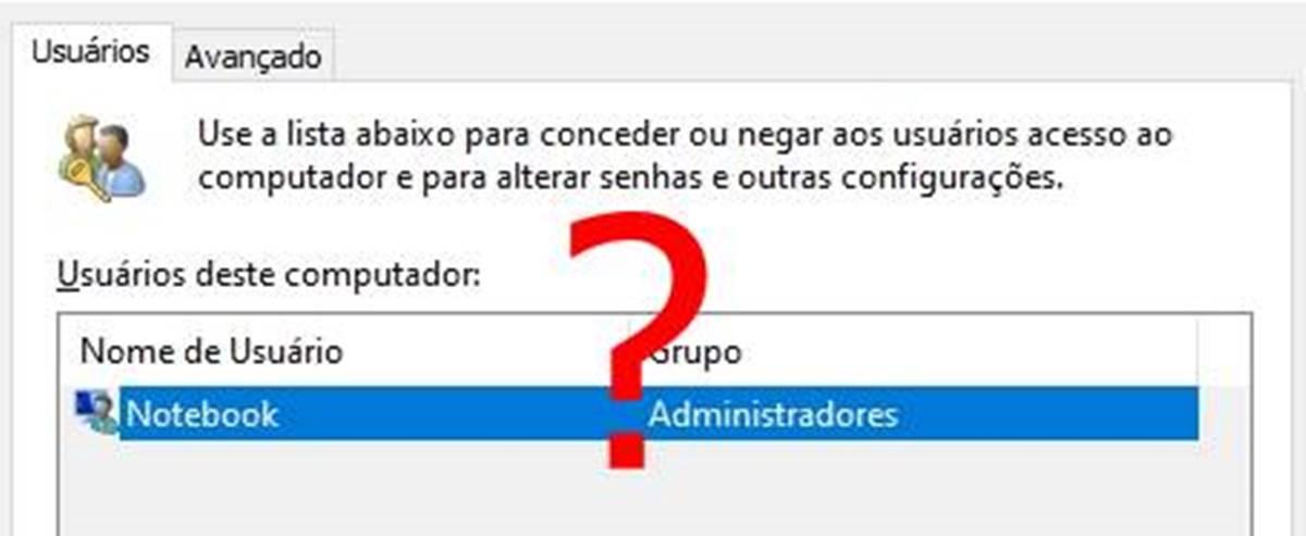 Os usuários devem digitar um nome de usuário [Não aparece]