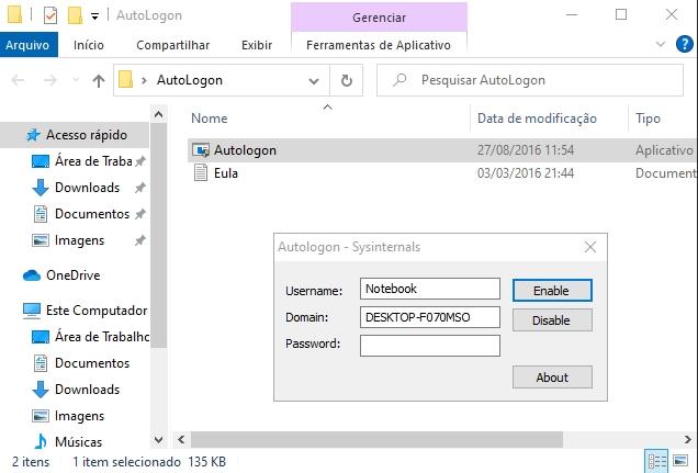 Como tirar a senha de login do Windows 10