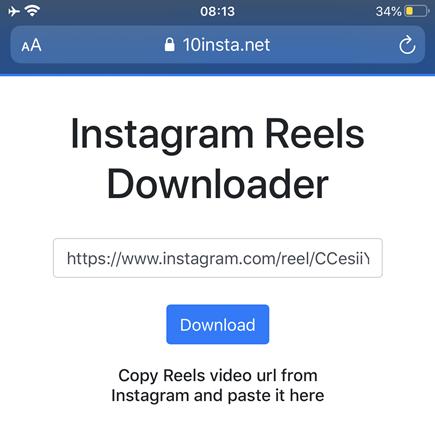 Como baixar os vídeos do Instagram Reels