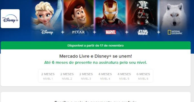 Disney Plus no Mercado Pago