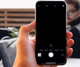 Câmera do iPhone preta