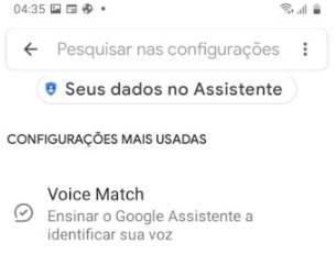 Não consigo ativar OK Google