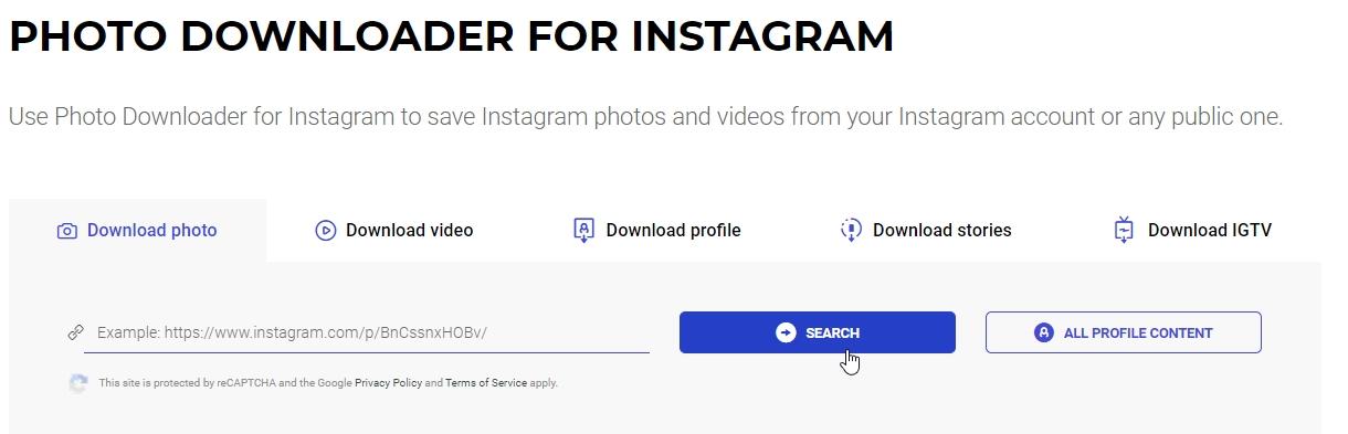 Baixar foto do Instagram pelo celular, computador ou Tablet.